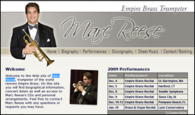 Marc Reese | Empire Brass Trumpeter